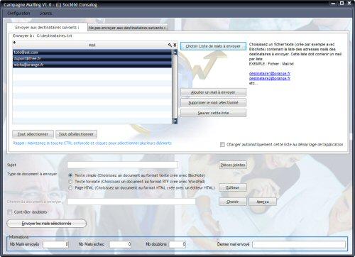 Campagne mailing logiciel de mailing for Liste de diffusion